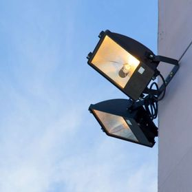 Two large security lights